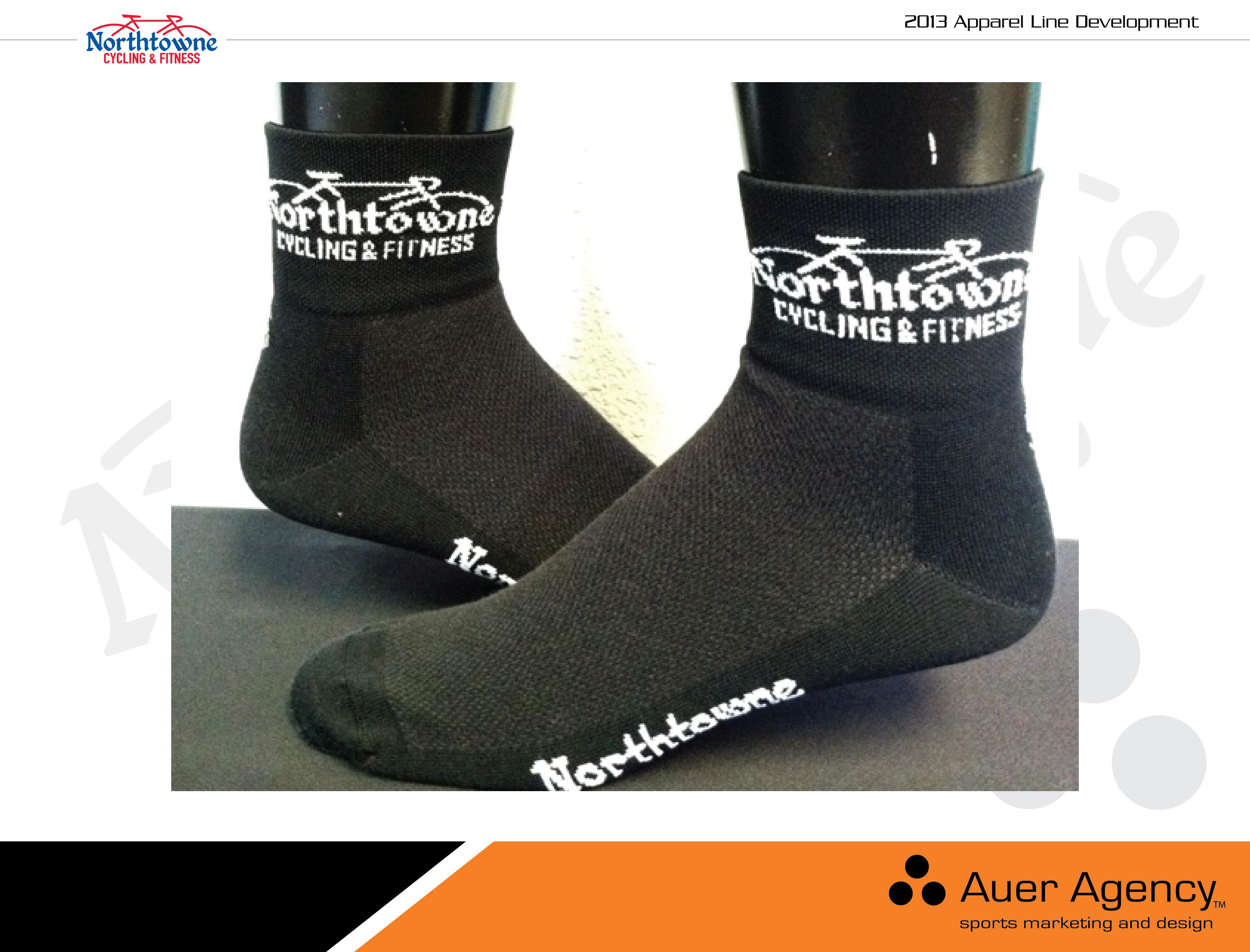 Custom Socks with Northtowne logo knitted into sock. NorthtowneJerseyFInal.  Custom cycling ... cc09f9962