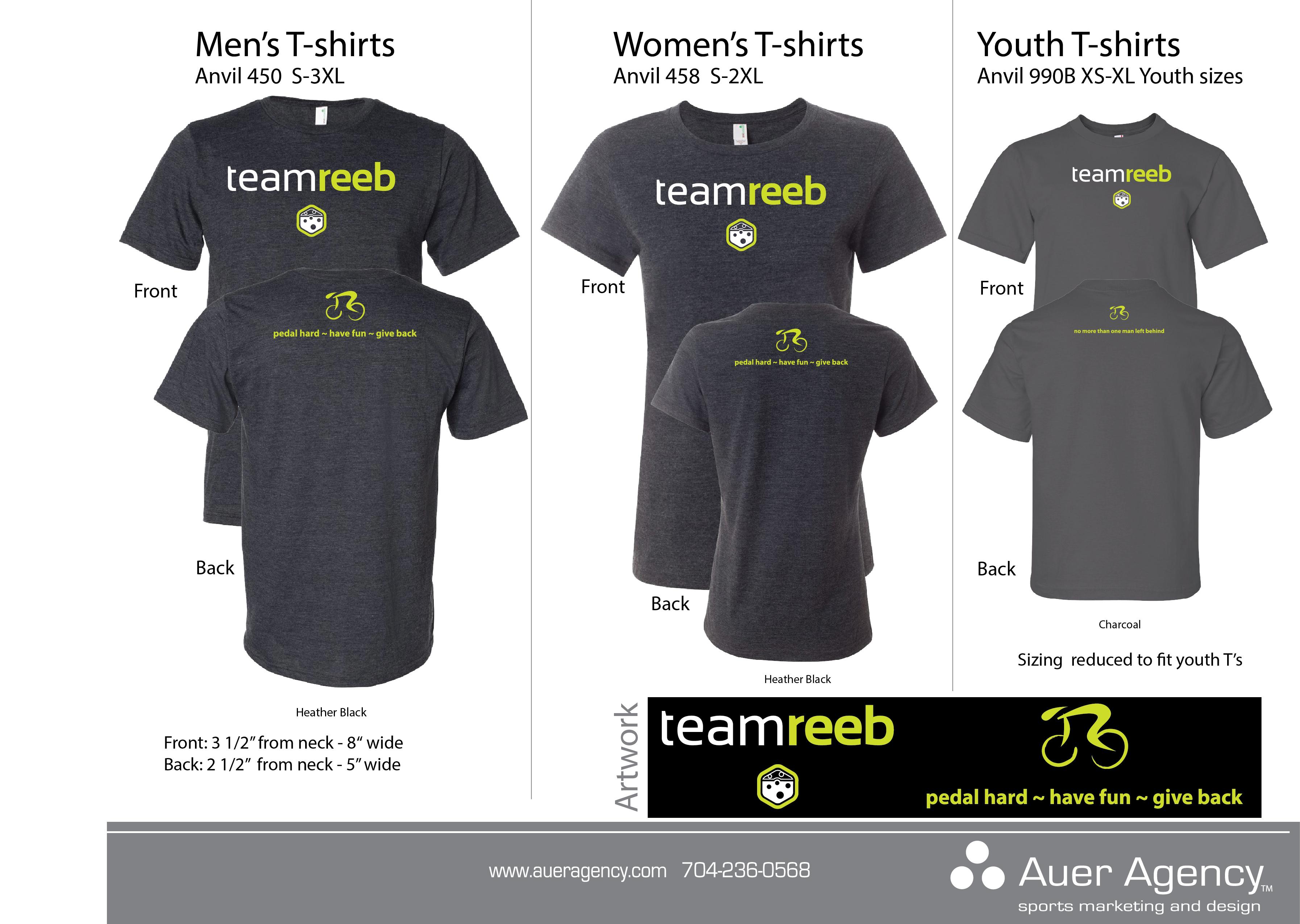 Cycling Team Reeb's Custom t-shirts | Custom Apparel Source