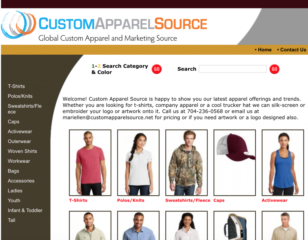 Custom Apparel Catalog