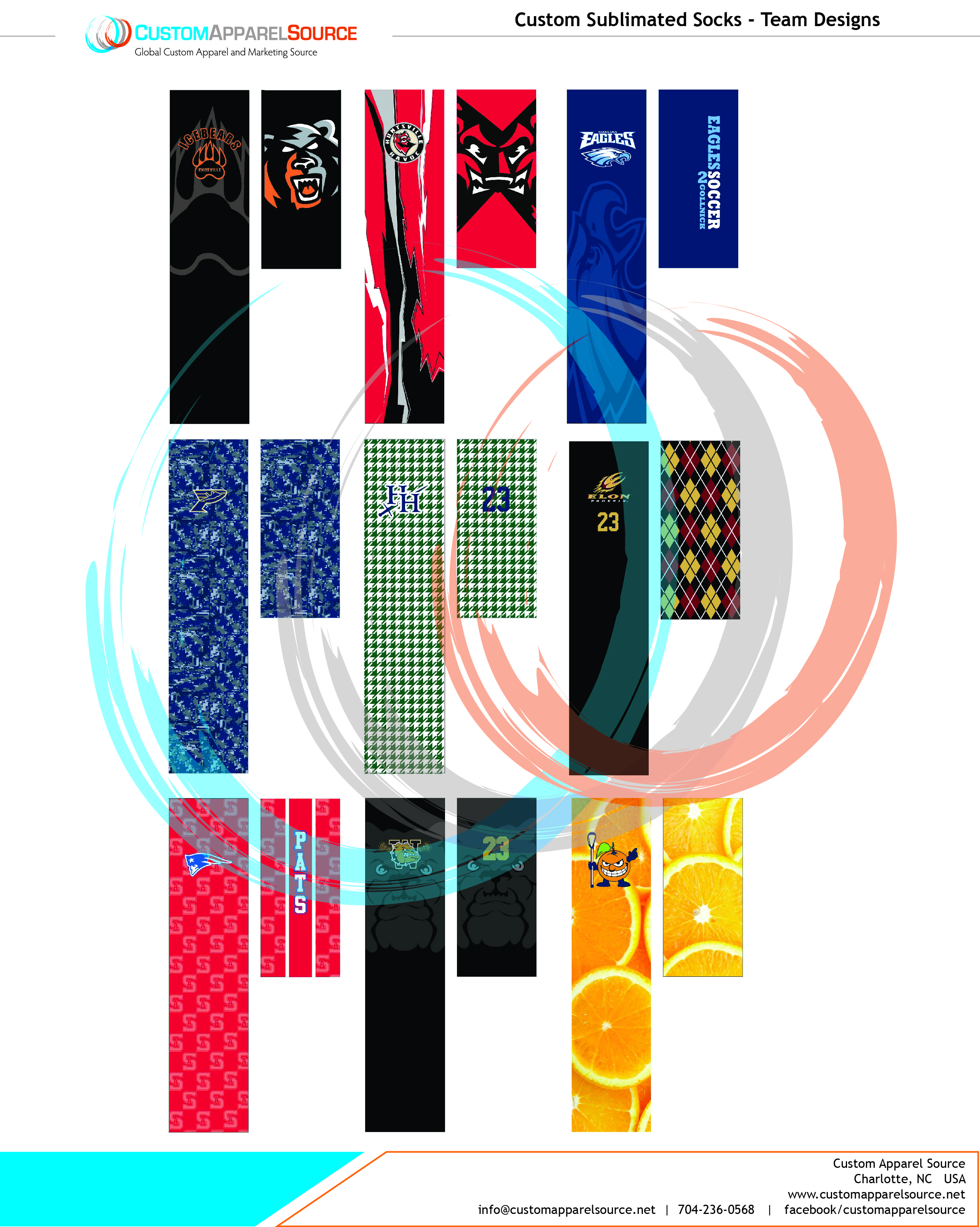 Sublimated Team Sock Designs