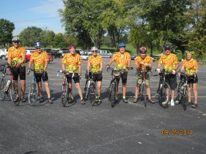 Corvair Cycling Team Group Photo